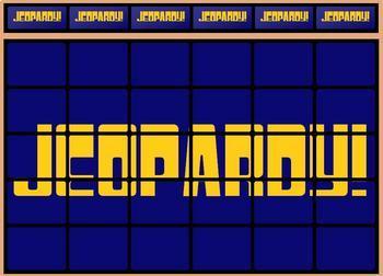 jeopardy game template by lady lion teachers pay teachers