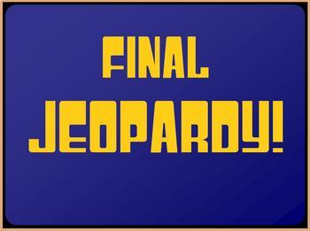 Jeopardy game template by lady lion teachers pay teachers for Jeopardy template with sound effects