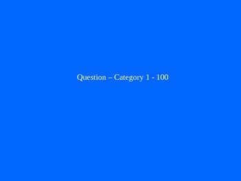 Blank Jeopardy Game Template: 5 Category Jeopardy