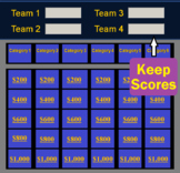 Jeopardy Template PowerPoint Game - (Keeps Scores on a Mac