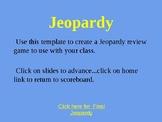 Jeopardy Game Template (Sophia's War)