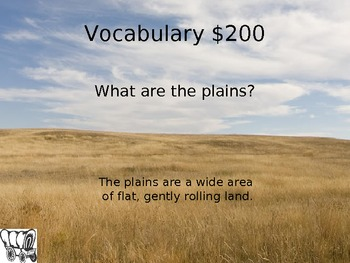 Jeopardy Game: Westward Expansion