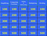 Jeopardy Game for Fractions & Mixed Number Computation Skills