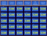 Jeopardy Game for Percents Unit (6th Grade Common Core)