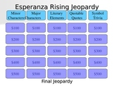 Jeopardy Game for Reviewing Esperanza Rising