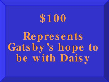 Jeopardy Game for Reviewing The Great Gatsby by F. Scott Fitzgerald