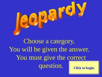 Jeopardy Game of General Knowledge