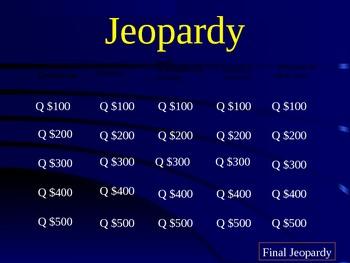 Jeopardy Game over Figurative Language