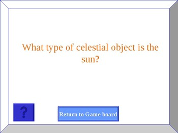 Jeopardy Game to Review Astronomy