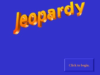 Jeopardy Game to Review Geology (History of the Earth)