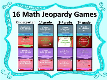 Jeopardy Games K-3 16 Games