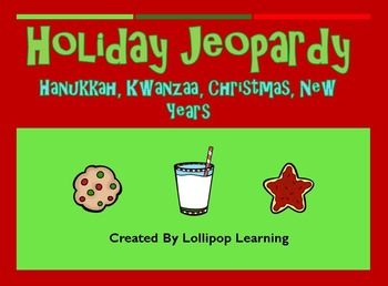 Jeopardy Games (K-3 Holiday Editions)