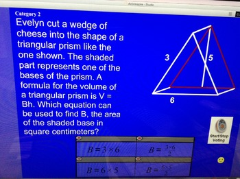 Jeopardy Geometry Area Volume 2D and 3D Shapes