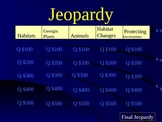 Jeopardy Georgia Life Science third Grade CRCT Review