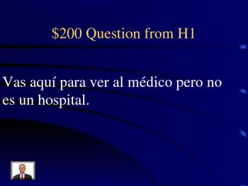 Jeopardy Imperfect vs Preterite Health Vocab Descubre 2 Ch1 Final Exam Review