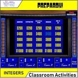 PREPARDY! Math Test Prep Game - Integer Operations (7.NS.A)