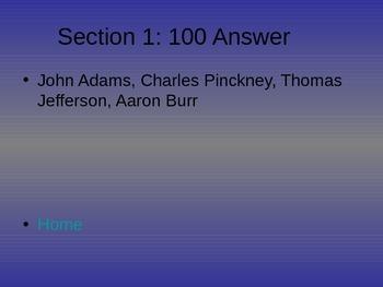 Jeopardy Jefferson Era