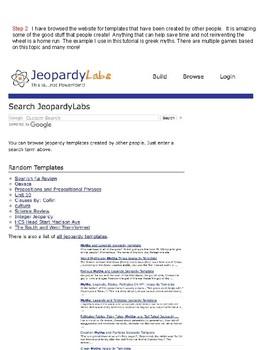 Jeopardy Labs Tutorial Using Screencast