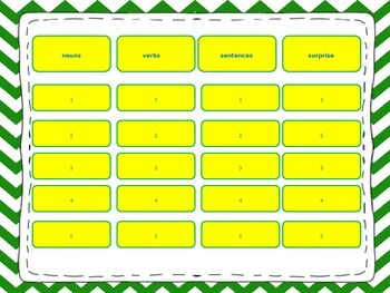 Jeopardy Language Review Game