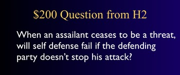 Jeopardy Law Game - Accused's Criminal Defenses - Criminal Trials