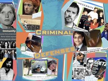 Criminal Defenses & Evidence Presentation + Jeopardy Game Evidence