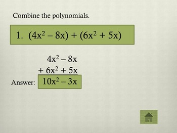 Jeopardy-Like Polynomials Review Game
