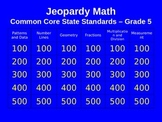 Jeopardy Math - 5th Grade