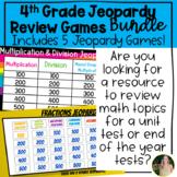 Jeopardy Math Games Review Bundle