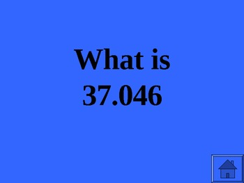 Jeopardy Math Review #2 of 3