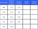 Jeopardy Math Review Grades 4/5
