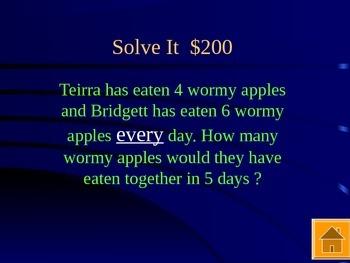 Jeopardy Math State Test Prep