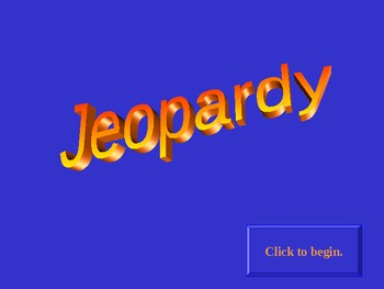 Jeopardy - Mesopotamia