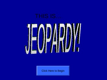 Jeopardy Metric Measurement Game