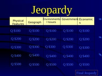 Jeopardy Milestone Review Game - 7th grade SS