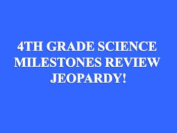 Jeopardy Milestones Review 4th grade
