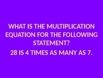 Jeopardy Multiplication Review
