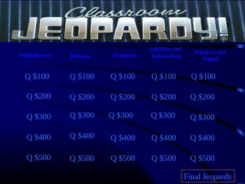 Jeopardy - NJASK Review (grade 3-4)