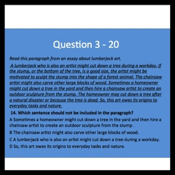 Jeopardy PPT for 7th ELA Review in Tennessee