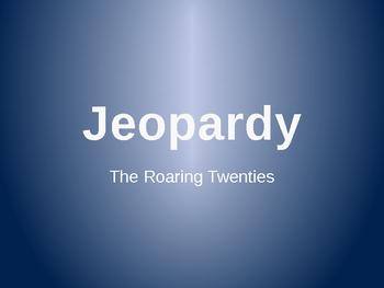 Jeopardy PowerPoint Game (Roaring Twenties)