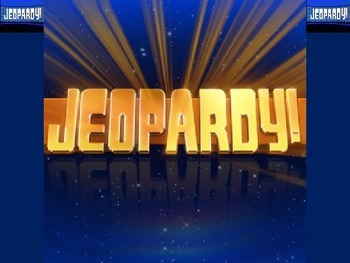 Jeopardy PowerPoint Game Template (25 question + Final Jeopardy)