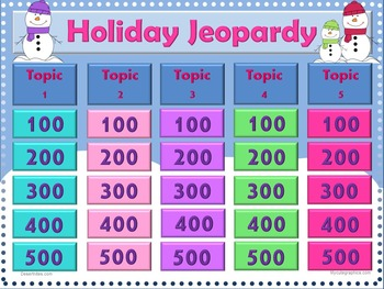 Jeopardy PowerPoint Game Winter Holiday Theme