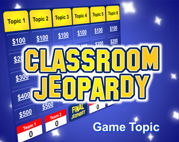 jeopardy powerpoint template - plays just like jeopardy | tpt, Powerpoint templates