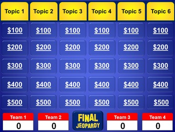 Jeopardy powerpoint template plays just like jeopardy tpt for Jeopardy game powerpoint template with music