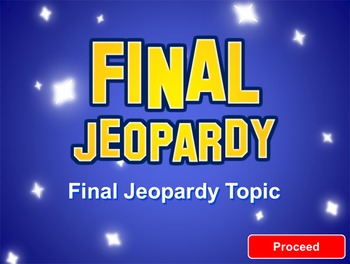 Jeopardy powerpoint template plays just like jeopardy tpt jeopardy powerpoint template plays just like jeopardy toneelgroepblik Choice Image