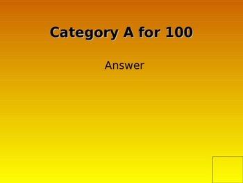 Jeopardy Powerpoint Blank