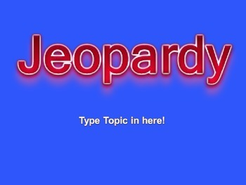 Jeopardy Powerpoint Review of Basic Macro Concepts
