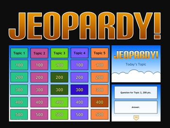 Jeopardy Powerpoint Template - Keeps Track of Selected Tiles