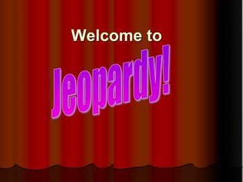 Jeopardy Powerpoint Template with 5 or 6 categories and Tutorial