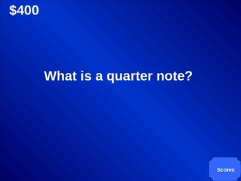 Jeopardy Powerpoint for Music Vocabulary Benchmark #1