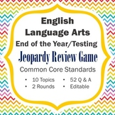 ELA End of the Year Review / Testing Review Jeopardy Game